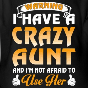 Warning I have a crazy aunt - Short Sleeve Baby Bodysuit