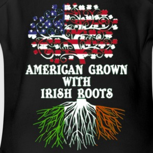 american grown with irish roots - Short Sleeve Baby Bodysuit