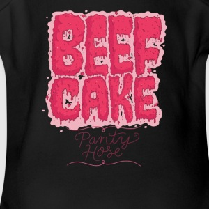 Party Hose Beef Cake - Short Sleeve Baby Bodysuit