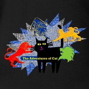 Cat Suffers Demons - Short Sleeve Baby Bodysuit