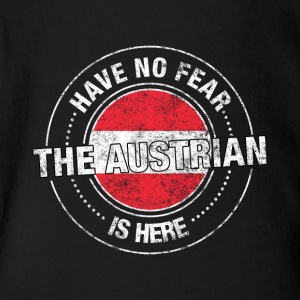 Have No Fear The Austrian Is Here - Short Sleeve Baby Bodysuit