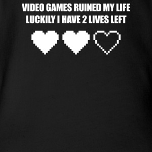 VIDEO GAMES RUINED MY LIFE - Short Sleeve Baby Bodysuit