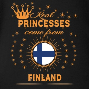 love princesses come from FINLAND - Short Sleeve Baby Bodysuit