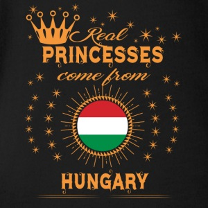 love princesses come from HUNGARY - Short Sleeve Baby Bodysuit