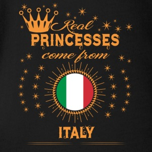 love princesses come from ITALY - Short Sleeve Baby Bodysuit