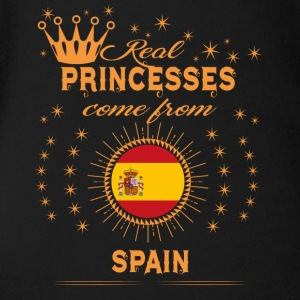 love princesses come from SPAIN - Short Sleeve Baby Bodysuit