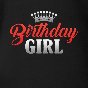 Happy Birthday Girl Princess Gift Present - Short Sleeve Baby Bodysuit