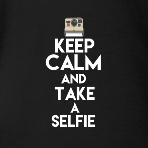 Keep calm and take a selfie design shirt - Short Sleeve Baby Bodysuit