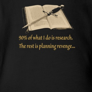Ninety Percent Research the rest is planing reveng - Short Sleeve Baby Bodysuit