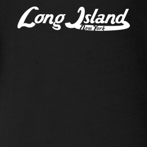 Long Island New York Vintage Logo - Short Sleeve Baby Bodysuit