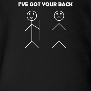 I've got your back stick figure - Short Sleeve Baby Bodysuit