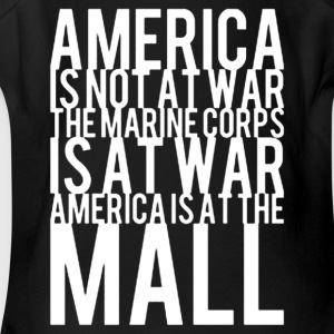 America Is Not At War America Is At The Mall - Short Sleeve Baby Bodysuit
