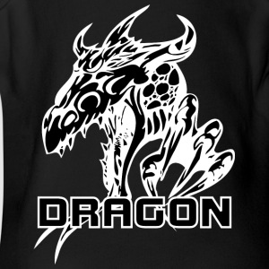 dragon_with_claw_black - Short Sleeve Baby Bodysuit