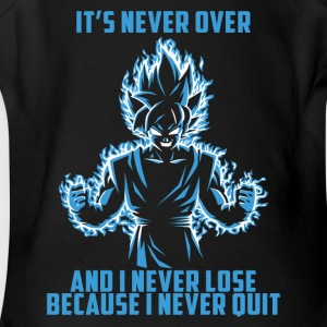 super saiyan goku - it's never over - Short Sleeve Baby Bodysuit
