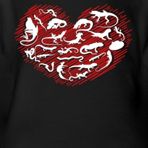 Reptile Heart Shirt - Short Sleeve Baby Bodysuit