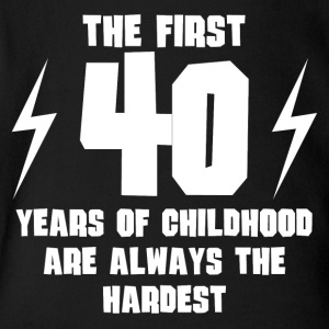 The First 40 Years Of Childhood - Short Sleeve Baby Bodysuit