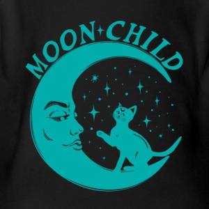 Moon Child Shirt for Yoga - Short Sleeve Baby Bodysuit