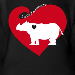 Love Rhinocero Tee Shirt - Short Sleeve Baby Bodysuit