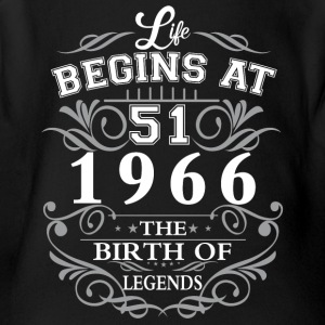 Life begins 51 1966 The birth of legends - Short Sleeve Baby Bodysuit