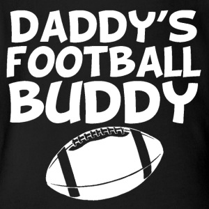 Daddy's Football Buddy - Short Sleeve Baby Bodysuit