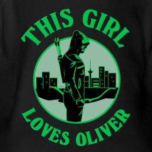 This Girl Loves Arrow. Oliver Queen - Short Sleeve Baby Bodysuit