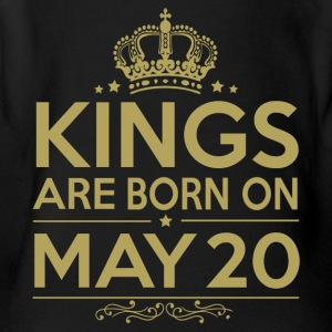 Kings are born on May 20 - Short Sleeve Baby Bodysuit