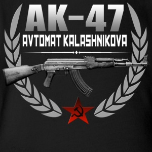 AK 47 RUSSIAN RIFLE - Short Sleeve Baby Bodysuit