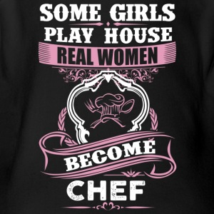 Real Women Become Chef - Short Sleeve Baby Bodysuit