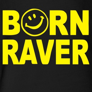 Born Raver - Short Sleeve Baby Bodysuit