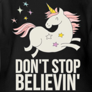 Unicorn Don't Stop Believin' Gift Shirt Limited - Short Sleeve Baby Bodysuit