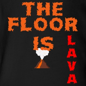The floor is lava - Short Sleeve Baby Bodysuit