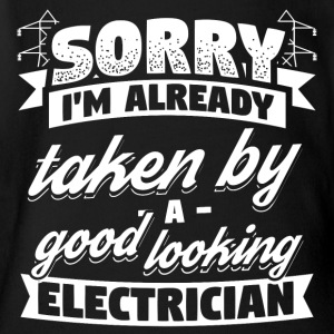 Funny Electrician Shirt Already Taken - Short Sleeve Baby Bodysuit