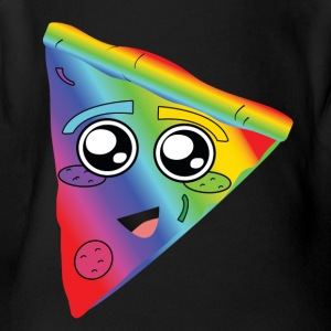 rainbow pizza - Short Sleeve Baby Bodysuit