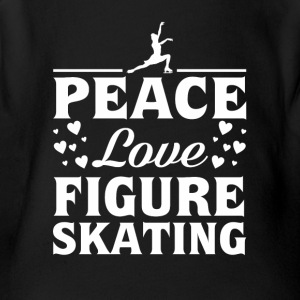 Peace Love Figure Skating Figure Skating - Short Sleeve Baby Bodysuit