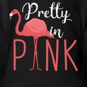 Pretty in Pink - Flamingo - Short Sleeve Baby Bodysuit