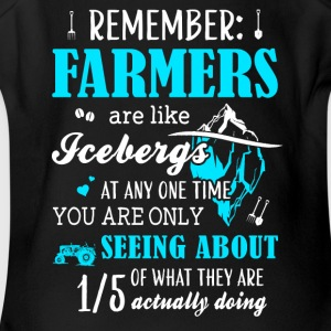 Rememver Jobs Are Like Farmers - Short Sleeve Baby Bodysuit
