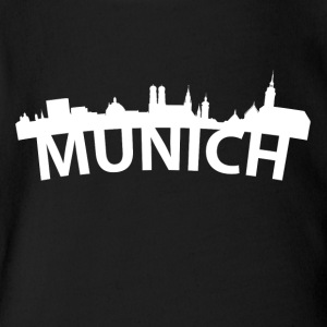 Arc Skyline Of Munich Germany - Short Sleeve Baby Bodysuit