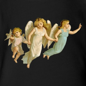 Christmas Angel - Short Sleeve Baby Bodysuit