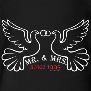 Mr And Mrs Since 1995 Married Marriage Engagement - Short Sleeve Baby Bodysuit