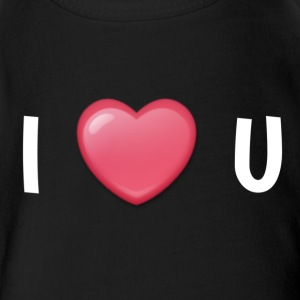 I LOVE YOU - Short Sleeve Baby Bodysuit