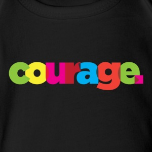 courage - Short Sleeve Baby Bodysuit