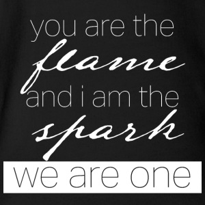 you are the flame and i am the spark - Short Sleeve Baby Bodysuit