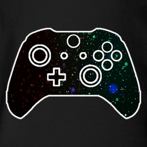 Video Game Particles Joystick - Short Sleeve Baby Bodysuit