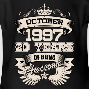 October 1997 20 Years Birthday Present Love Idea - Short Sleeve Baby Bodysuit