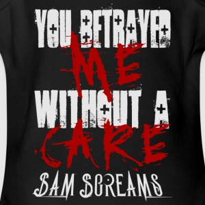 Sam Screams You Betrayed Me - Short Sleeve Baby Bodysuit