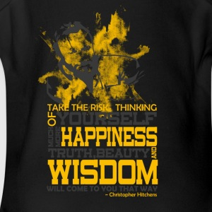 Happiness and Wisdom - Short Sleeve Baby Bodysuit