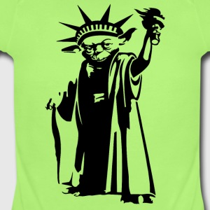 Joda statue of liberty - Short Sleeve Baby Bodysuit