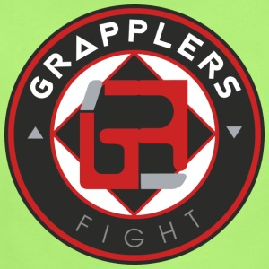 Dark 001 grapplersfight LOGO Back - Short Sleeve Baby Bodysuit