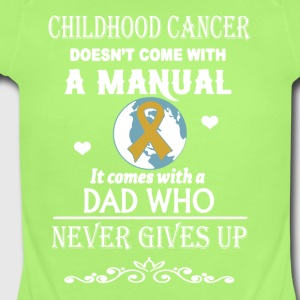 Childhood Cancer Dad Shirt - Short Sleeve Baby Bodysuit