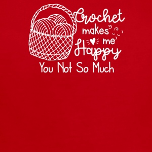 Crochet Makes Me Happy You Not So Much - Short Sleeve Baby Bodysuit